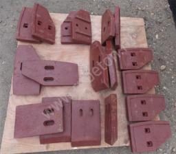 Лопатки в бетоносмеситель JS500, JS750, JS1000, JS1500, JS2000