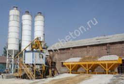 Стационарный бетонный завод HZS 25(скиповый)