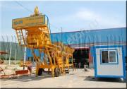 Мобильный бетонный завод буксируемого типа YHZS 25