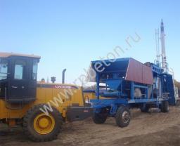 Мобильный бетонный завод буксируемого типа YHZS 35