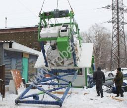 Перевозимый мобильный бетонный завод МВТ-20