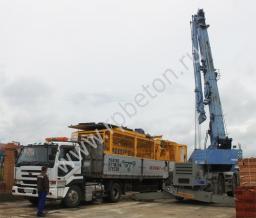 Перевозимый мобильный бетонный завод BHB 40
