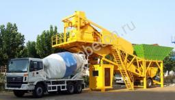 Транспортируемый мобильный бетонный завод YHZS 50