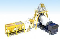 Бетонный завод, производительностью 20 м3 в час