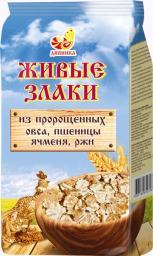 Живые злаки из пророщенных овса, пшеницы, ячменя, ржи.