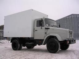Установка фургонов ЗИЛ