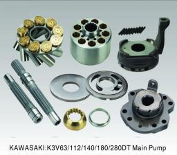 Запчасти для насоса и мотора Kawasaki K3V63/112/140/180/280, K5V80/140/200, M2X, M5X