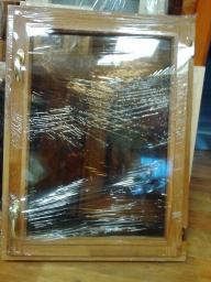 Окна для бани (дуб) стеклопакет 800х600