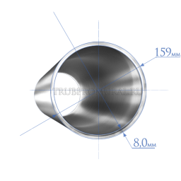 Труба 159х8,0 мм., сталь 09Г2С, ТУ14-3Р-1128-2007