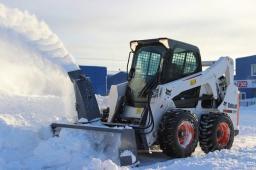 Снегоочиститель шнеко-роторный для минипогрузчиков: Bobcat, Komatsu, MUSTANG, NEW HOLLAND, ТСМ, МКСМ