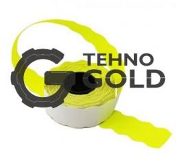 Этикет-лента 22X12X1000 желтая волна