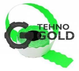Этикет-лента 22X12X1000 зелёная волна