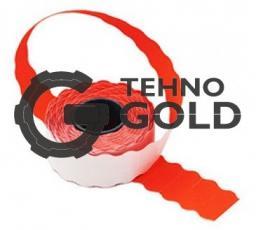 Этикет-лента 22X12X1000 красная волна