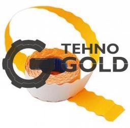 Этикет-лента 22X12X1000 оранжевая волна