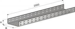 Лоток кабельный П-400х50х2000 перфорированный (0.7мм) цинк