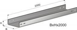 Лоток неперфорированный (глухой) Г-100х100х2000 (0,7мм) цинк