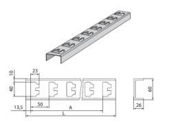 К1151 Стойка кабельная К1151 цинк (L-600мм) (s=2.5mm)