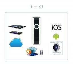 Видеоняня /WiFi IP видеокамера панорамная 180*110* с DVR (fish-BW), HD