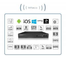 4-канальный IP-видеорегистратор FullHD/4K