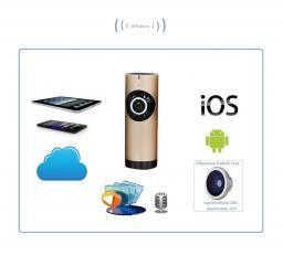 Видеоняня /WiFi IP видеокамера панорамная 180*110*  с DVR (fishG), HD