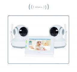 Видеоняня с моторизированной видеокамерой Ramili Baby RV (2 камеры)