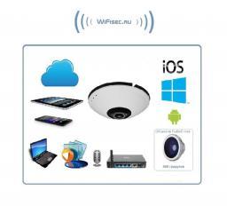 D-Link, панорамная IP видеокамера  WiFi/LAN  (360°) и DVR,  Full HD 2 Мп