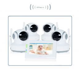 Видеоняня с моторизированной видеокамерой Ramili Baby RV (4 камеры)