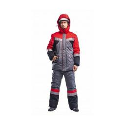 Костюм утепленный серый/черный/красный (зимний) ОЗМ 1040