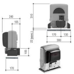 Автоматика для откатных ворот CAME BX-64 (Италия)