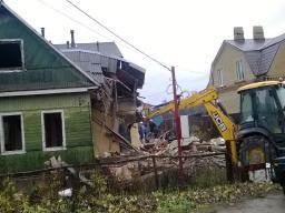Демонтаж домов под ноль