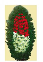 Венок из живых цветков