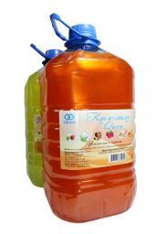 Жидкое крем-мыло Queen (5 литров) в канистрах ПЭТ (5л), аромат апельсина