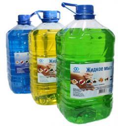 Жидкое мыло Queen (5 литров) в канистрах ПЭТ (5л), в ассортименте