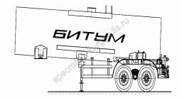 Полуприцеп-цистерна ЦБ-18 (под битум, без насоса, V=18 м3)