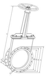 Задвижки(электрическая/на конической зубчатой передаче/ручного действия) LC43W-2.5C 1150109