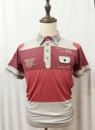 Рубашка из цветных ниток Polo с заклепками HY15072108 3120305