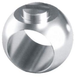 Шары (пробка) для шаровых кранов,Шар для фиксированных шаровых кранов с жестким уплотнением,Шар для фиксированных шаровых кранов с жестким уплотнением 1090109