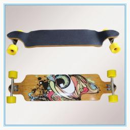 Скейты,Лонгборд, Дешевый лонгборд из клена с двойным дропом KYB-4109 2870103