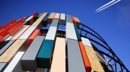 Фасадные панели KronoArt Польша, конструкционный морозостойкий пластик компакт HPL для фасадов, балконов, входных групп