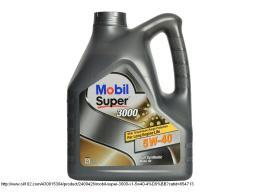 Масло моторное Mobil Super 3000 5w40 (Мобил 5w-40), 4л