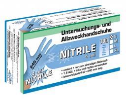 Перчатки нитриловые одноразовые (упаковка 100 шт, размер М)