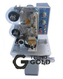 Ручной полуавтоматический ленточный термопринтер (маркиратор, датер, термодатер) горячего тиснения с электрическим приводом DK-200