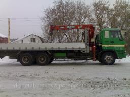 Аренда крана-манипулятора кузов 18 т