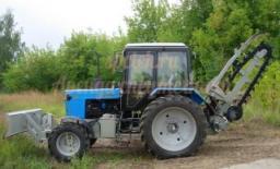 Траншеекопатель на базе трактора Беларус (баровая установка)