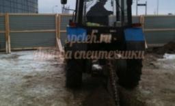 Траншеекопатель на базе трактора МТЗ-82 (грунторез)
