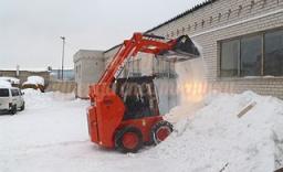 Снегоуборочный минипогрузчик Грузоподъемность 800 кг.