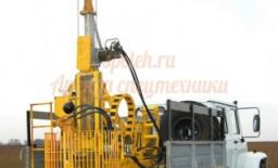 Бурильные установка burovaya ustanovka na ZIL