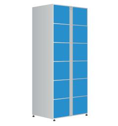Модуль хранения автоматической камеры хранения на 12 ячеек