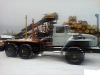 Лесовоз Урал 55571, 2013 г.в. с кму ОМТЛ-97 + прицеп роспуск