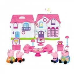 Кукольный дом + 4 фигурки 7 см. Свинка Пеппа + Машинка